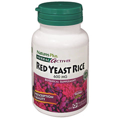 Nature's Plus Herbal Actives Red Yeast Rice 600mg 60VC