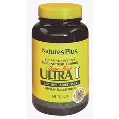Nature's Plus Ultra 1 Multivitamin Sustained Release Iron Free 60T