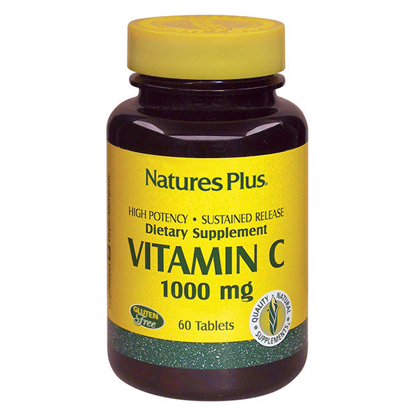 Nature's Plus Vitamin C 1,000mg w/ Rose Hips Sustained Release 60T