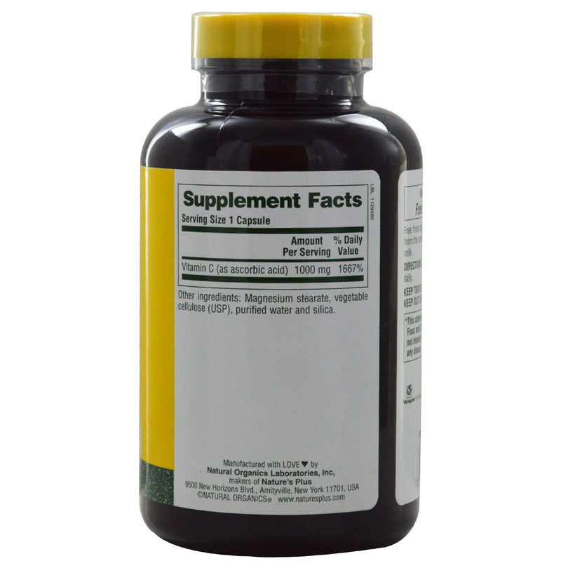 Nature's Plus Vitamin C 1,000mg 180VC - Discontinued