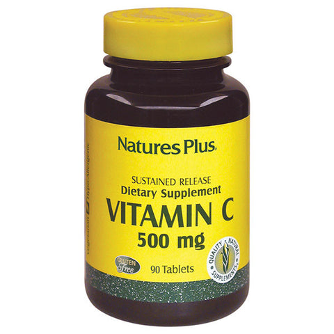 Nature's Plus Vitamin C 500 w/Rose Hip Sustaind Release 90T