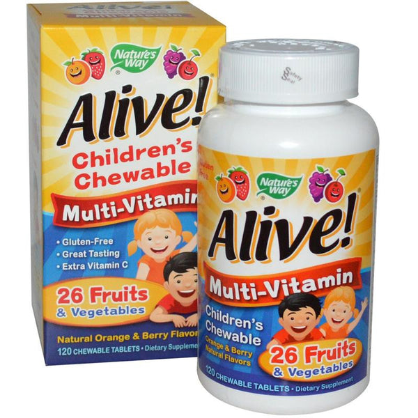 Nature's Way Alive Children's Chewable Multivitamin 120T