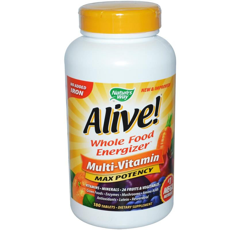 Nature's Way Alive Max Potency Multivitamin (No Iron) 180T