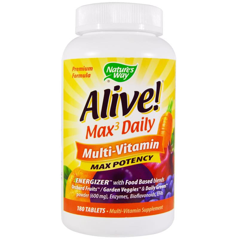 Nature's Way Alive Max Potency Multivitamin 180T