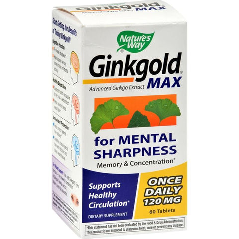 Nature's Way Ginkgold Max 120mg 60T