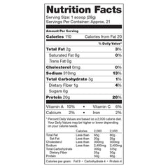 Vega Protein & Greens Natural Nutrition Facts
