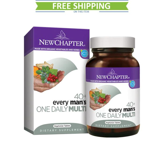 New Chapter Every Man 1 Daily 40+ 96T Free Shipping