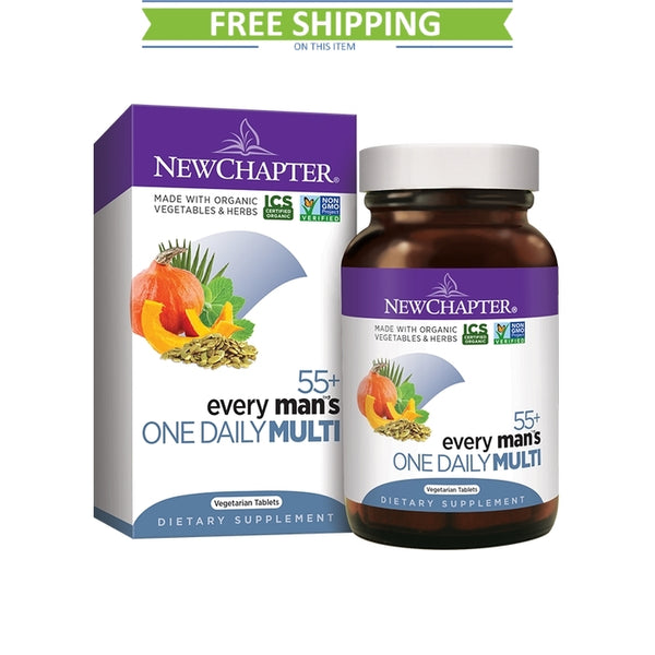 New Chapter Every Man's 1 Daily 55+ Multivitamin 72T Free Shipping
