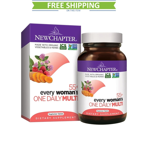 New Chapter Every Woman's 1 Daily 55+ Multivitamin 72T Free Shipping