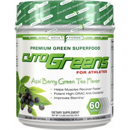 Nova Forme CytoGreens Acai Berry Green Tea 60 Servings