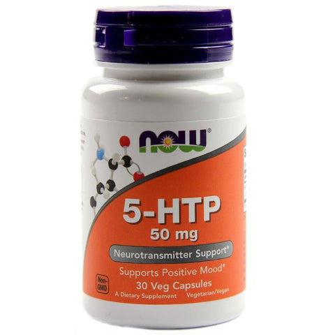 Now Foods 5-HTP 100mg 60 Vegetarian Capsules
