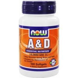 Now Foods Vitamin A&D 10,000/400 IU 100SG