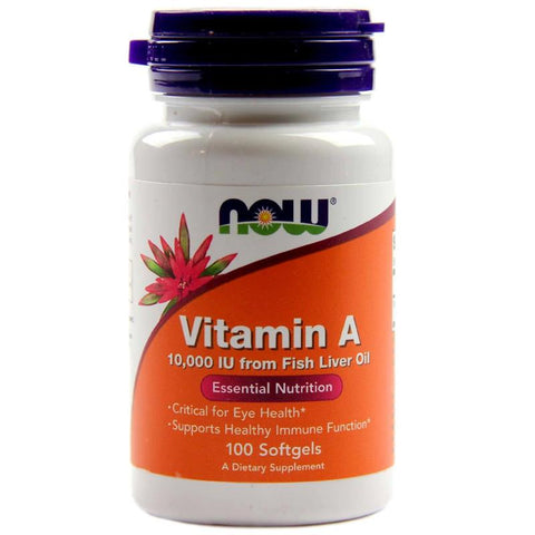 Now Foods Vitamin A 10,000 IU 100SG