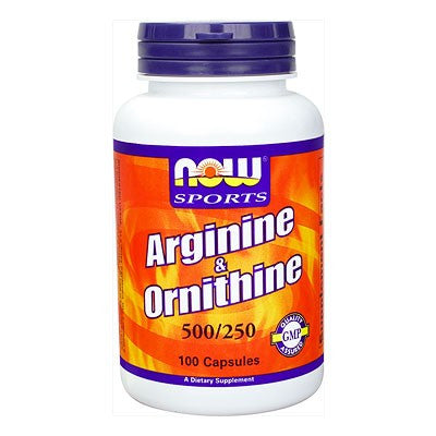 Now Foods L-Arginine/Ornithine 500/250mg 100C