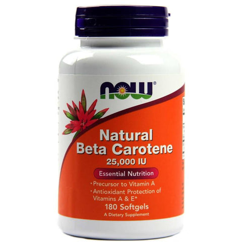 Now Foods Natural Beta Carotene 25,000IU 90SG