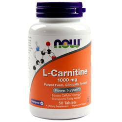 Now Foods L-Carnitine 1000mg 50T