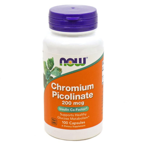 Now Foods Chromium Picolinate 200mcg 100C