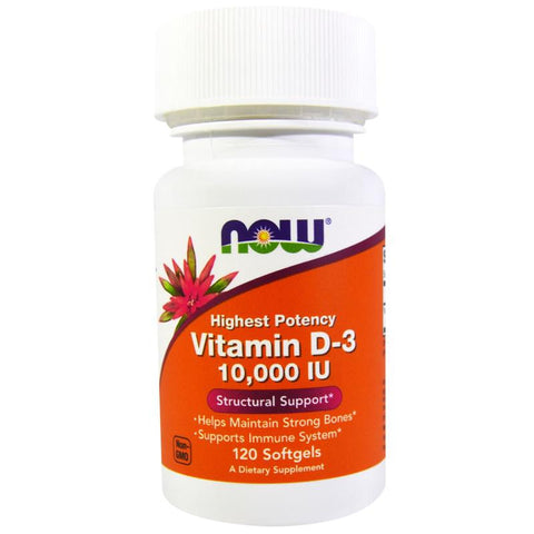 Now Foods Vitamin D3 10,000 IU 120SG