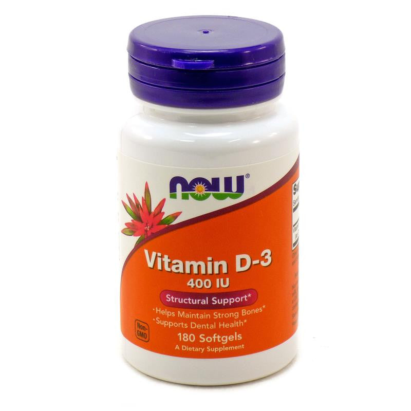 Now Foods Vitamin D3 400 IU 180SG