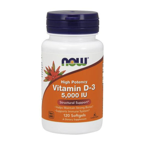 Now Foods Vitamin D3 5,000 IU 120SG