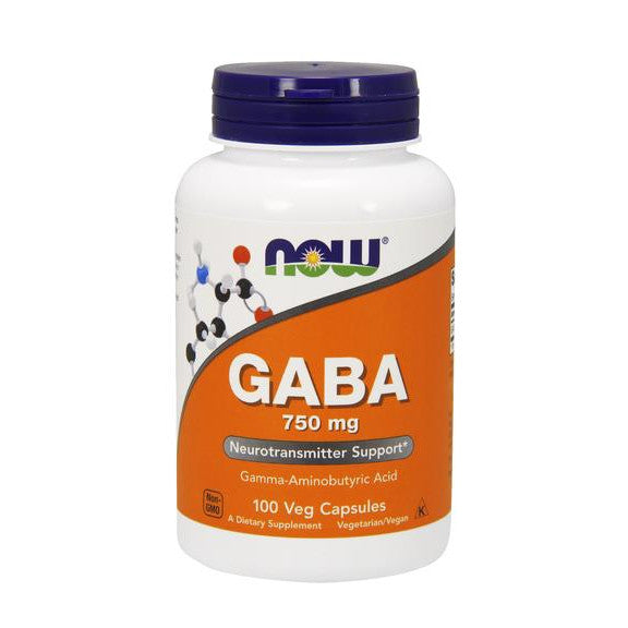 Now Foods GABA 750mg 100VC