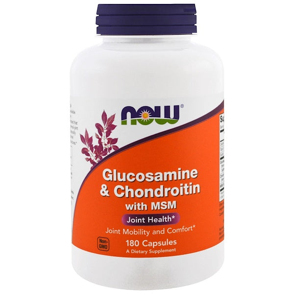 Now Foods Glucosamine & Chondroitin with MSM 180 Caps