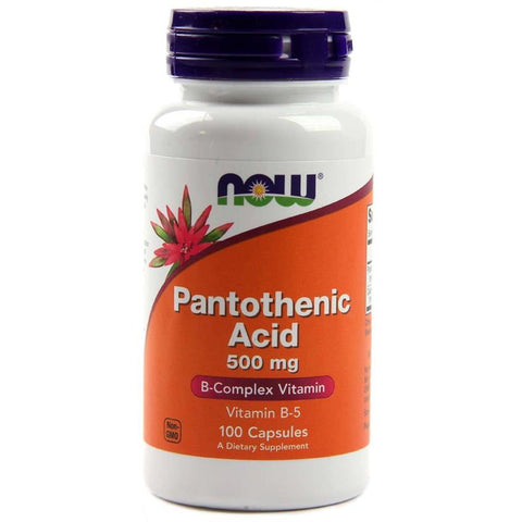 Now Foods B-5 (Pantothenic Acid) 500mg 100C