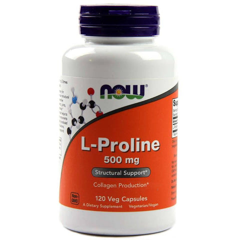 Now Foods L-Proline 500mg 120vc