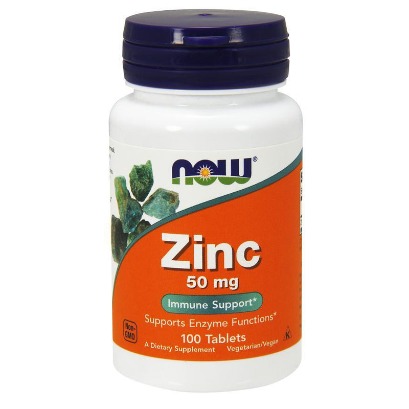 Now Foods Zinc Gluconate 50mg 100T