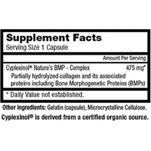 Zycal Bioceuticals Ostinol Advanced 475mg Supplement Facts