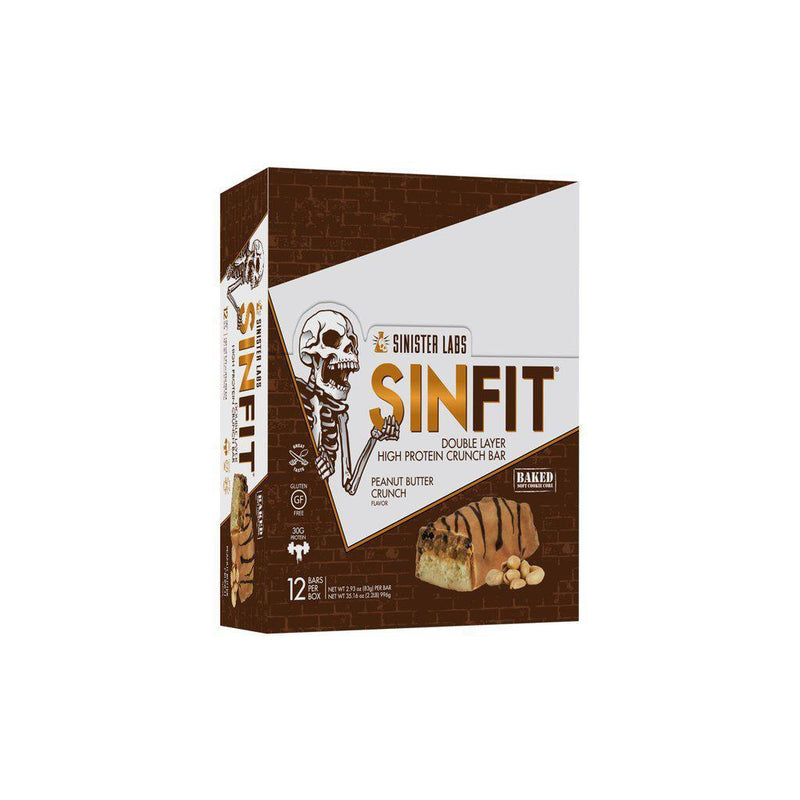 Sinister Labs SinFit Protein Bars Box of 12 Peanut Butter Crunch