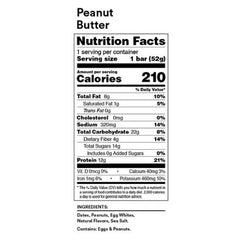 RX Bar Nutrition Facts Peanut Butter
