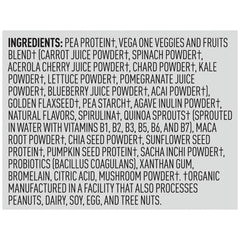 Vega One Shake Small Plain Ingredients