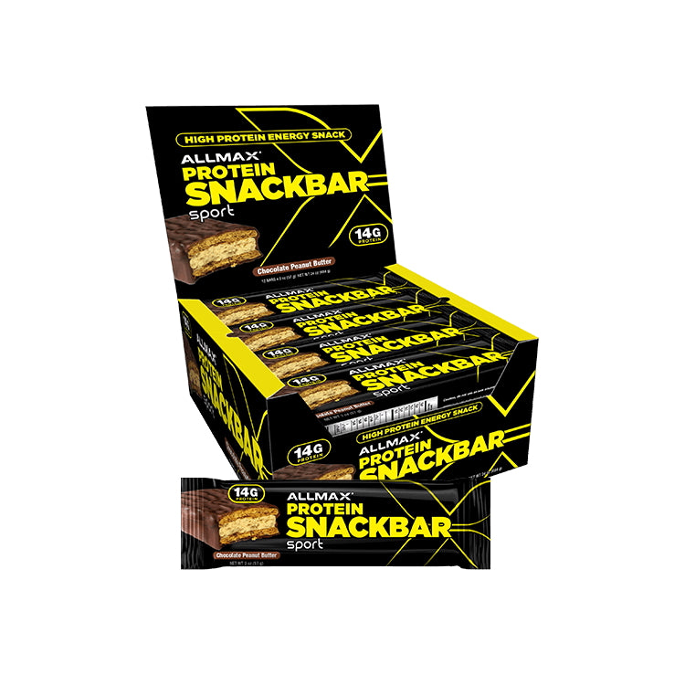 Allmax Nutrition Protein Snack Bar Box of 12 Chocolate Peanut Butter