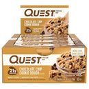 Quest Bar Box of 12 Chocolate Chip Cookie Dough