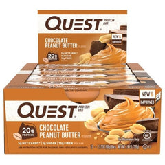 Quest Bar Box of 12 Chocolate Peanut Butter