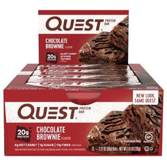 Quest Bar Box of 12 Chocolate Brownie