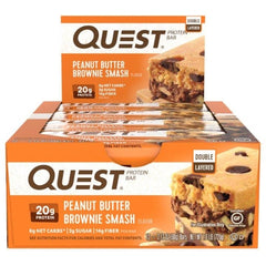 Quest Bar Box of 12 Quest Peanut Butter Brownie Smash