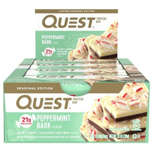 Quest Bar Box of 12 Peppermint Bark