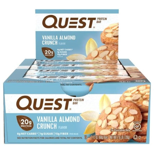 Quest Bar Box of 12 Vanilla Almond Crunch
