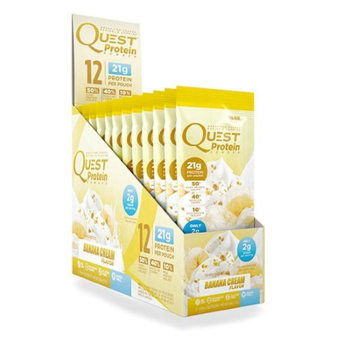Quest Nutrition Protein Powder (12 Packets) Banana Cream