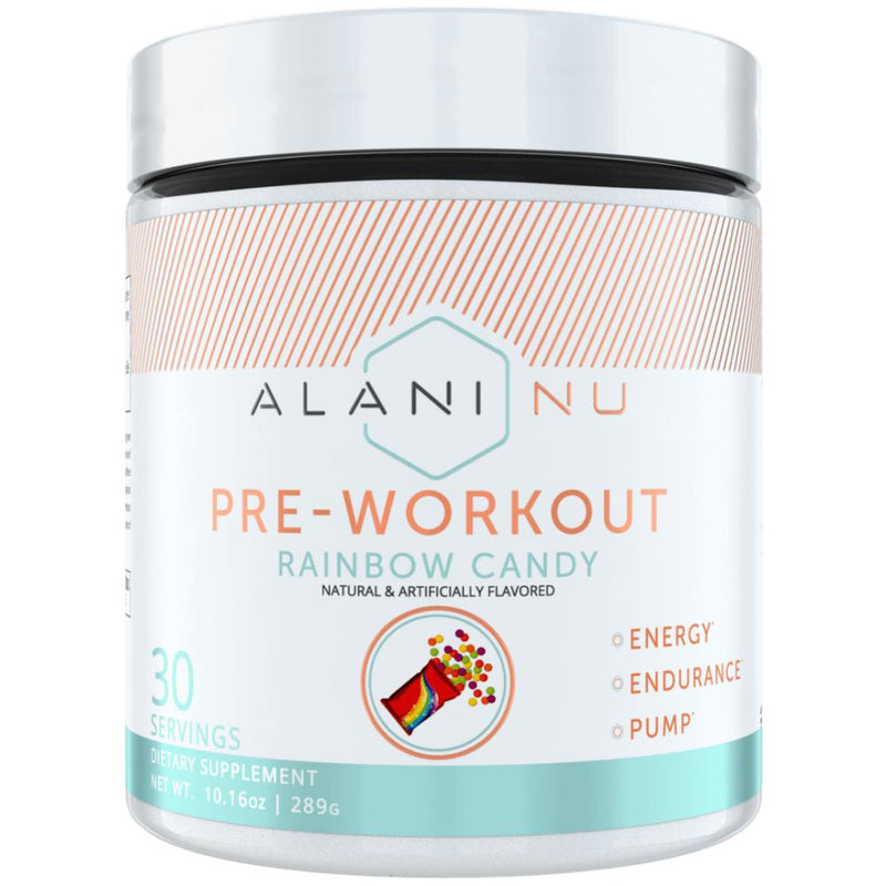Alani Nutrition Pre Workout 30 Servings Rainbow Candy