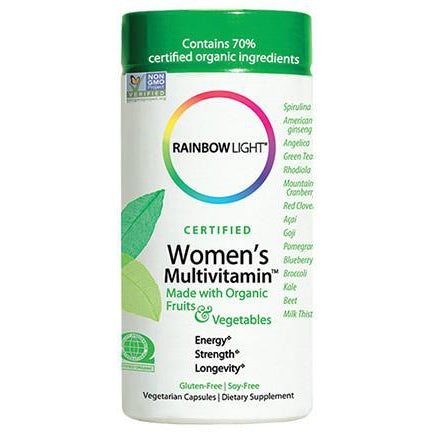 Rainbow Light Certified Organic Women's Multivitamin 120C