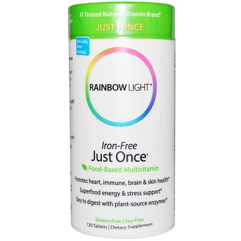 Rainbow Light Just Once Iron Free Multivitamin 120T