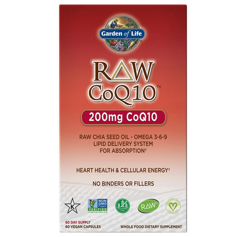 Garden of Life Raw Co-Q10 200mg 60VC