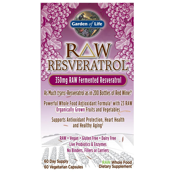 Garden of Life Raw Resveratrol 350mg 60VC