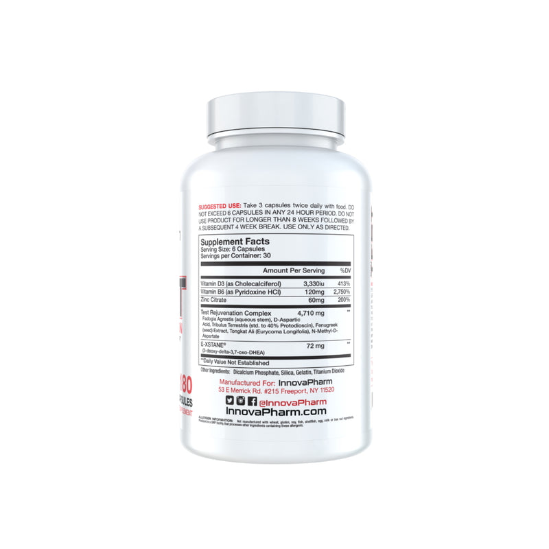 InnovaPharm Stage 1 Evolution Rejuvenation 180c supplement facts