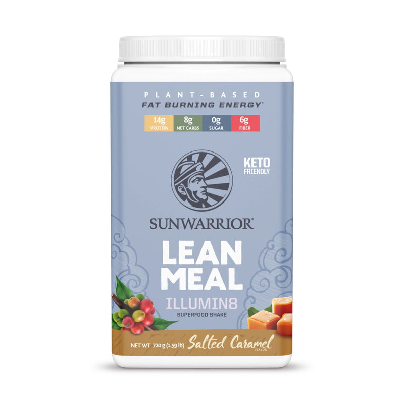 SunWarrior Lean Meal Illumin8 Meal Replacement 20 Servings Salted Caramel
