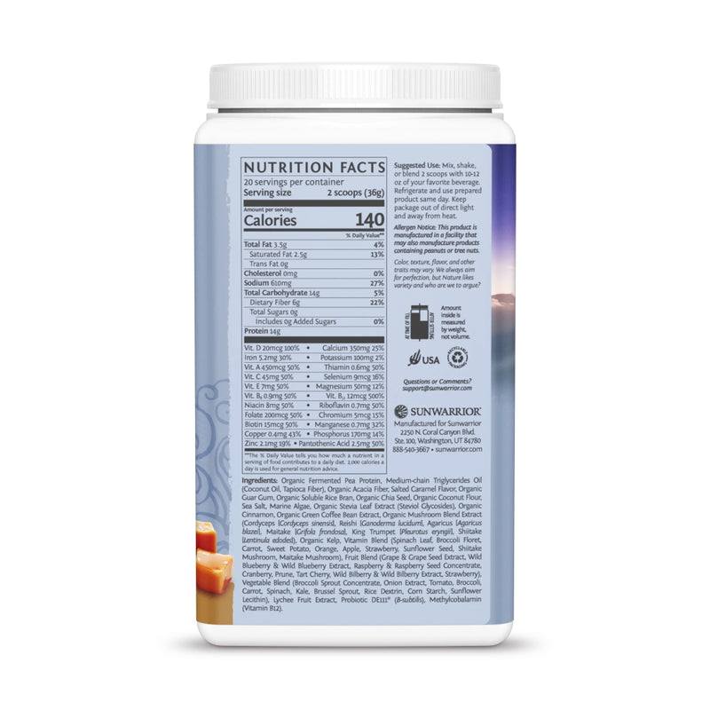 Sun Warrior Lean Meal Illumin8 Meal Replacement 20 Servings Supplement Facts