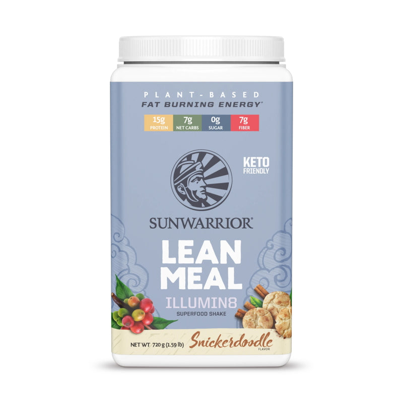 SunWarrior Lean Meal Illumin8 Meal Replacement 20 Servings Snickerdoodle
